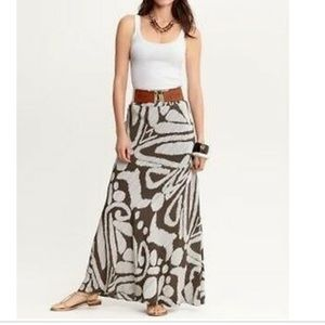Banana Republic Silk Maxi Skirt